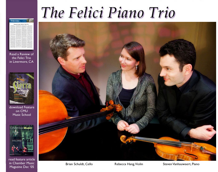 Felici Piano Trio - Bishop @ Cerro Coso College | Bishop | California | United States